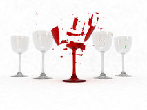 Broken wine glass Stock Photos