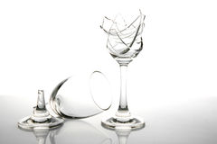 Broken Wine Glass Royalty Free Stock Photos