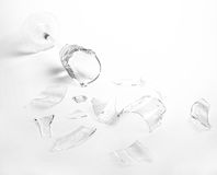 Broken wineglass Stock Images
