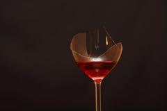 Broken Wineglass Stock Image