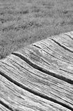 Broken wooden bench detail Royalty Free Stock Photos