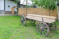 Broken wooden cart Stock Image