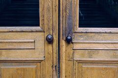 Broken wooden door Royalty Free Stock Photos