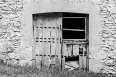 Broken wooden door Stock Photography