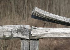 Broken Wooden Fence Stock Photography