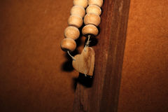 Broken  Wooden Heart Rosary Royalty Free Stock Image