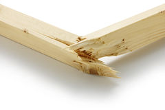 Broken wooden parts. On white background Stock Images