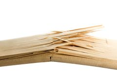 Broken wooden planks Stock Photo