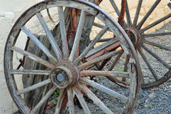 Broken wooden wagon Royalty Free Stock Photo