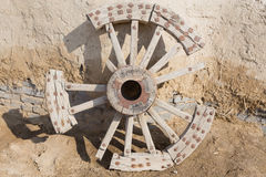 Broken Wooden Wheel Stock Photography