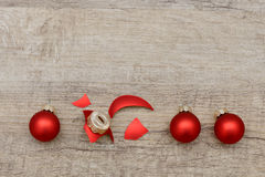 Broken xmas ball Royalty Free Stock Photos