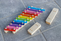 Broken xylophone Royalty Free Stock Images