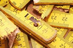 Broken yardstick Stock Image