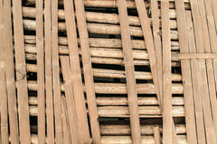 Brokened bamboo on bridge west of thailand Stock Photography