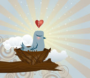 Brokenhearted Bluebird stock illustration