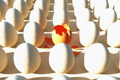 brokenned鸡蛋 免版税库存图片