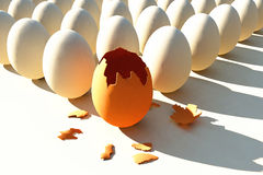 brokenned鸡蛋 图库摄影