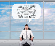 Broker dreaming about business plan Royalty Free Stock Image