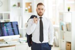 Broker in office stock photo
