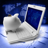 Broker piggy bank Royalty Free Stock Photos
