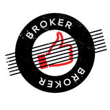 Broker rubber stamp Royalty Free Stock Photos