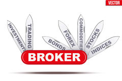 Broker symbol. Penknife with many blades. Royalty Free Stock Photo