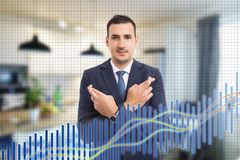 Broker using fingers to make good luck gesture stock photography