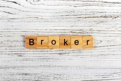 BROKER word made with wooden blocks concept.  Stock Photography