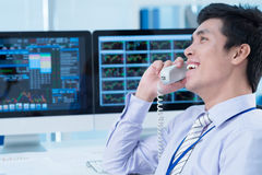Broker at work Stock Image