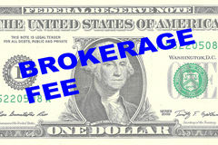 Brokerage Fee concept Royalty Free Stock Image