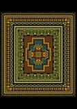 Brokig geometrisk modell för den original- mattan Arkivfoto