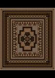 Brokig geometrisk modell för den original- mattan Arkivbilder