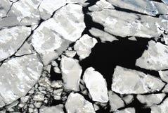 Brokken van ijs Stock Foto's