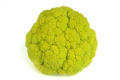 Brokkoli über Weiß Stockfotografie
