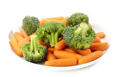Brokkoli und Karotte Lizenzfreies Stockbild