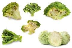 Brokkoli und Kohl Stockfoto