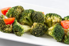 Brokkoli und Tomaten Stockfotografie
