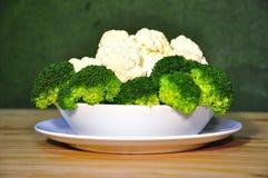 brokoli kalafior Obrazy Royalty Free