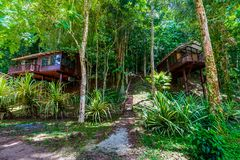 Free Brokopondo, Suriname - August 2019: Two Bungalows In South American Jungle. Royalty Free Stock Photography - 165871207