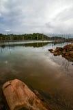 Brokopondostuwmeer reservoir seen from Ston EIland - Suriname Stock Photo