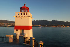 Brokton point lighthouse, stanley park Stock Images