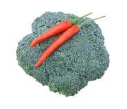 brokułów chili czerwień Zdjęcie Royalty Free