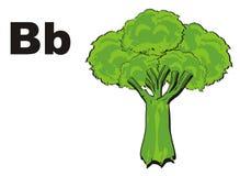 Brokuły i listy royalty ilustracja