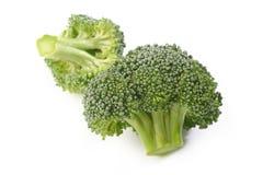 Brokuły jarzynowi na bielu Obraz Stock