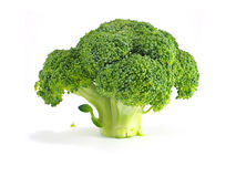 Brokuły pokrajać na białym tle Obraz Royalty Free