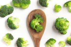 Brokuły w łyżkę Obraz Royalty Free