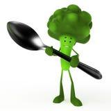 brokułów charakteru jedzenie Zdjęcie Royalty Free