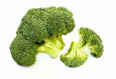 Brokułów florets na bielu zdjęcia royalty free