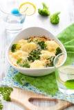 brokułów kalafioru gratin Zdjęcie Royalty Free