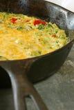 brokułów sera jajka frittata Fotografia Stock